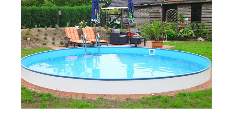 rundpool stahlwandpool rund. Black Bedroom Furniture Sets. Home Design Ideas