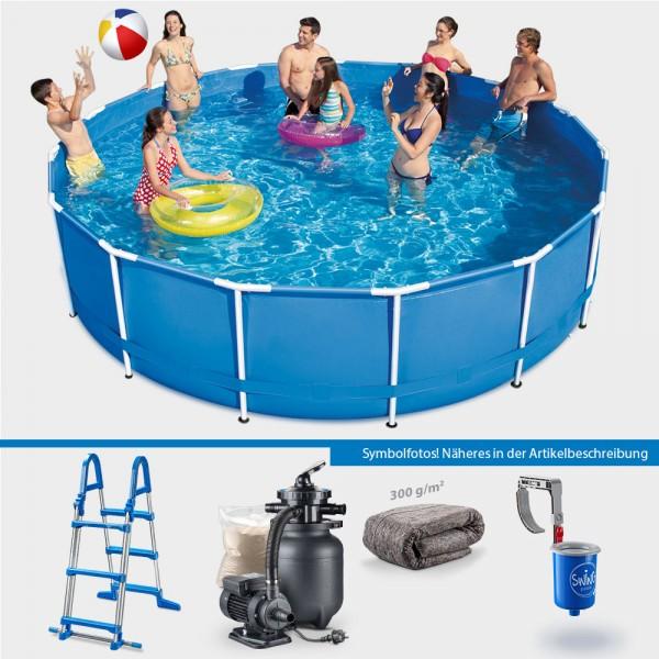 Frame Pool POLE Rund 366 x 91 cm PROTECT PLUS-Set