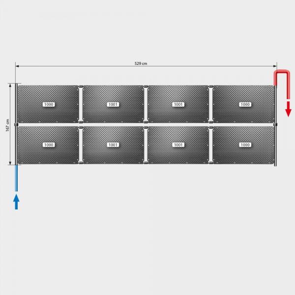 Pool-Solarheizung POOLSANA OKU Set 16a | Flachdachmontage
