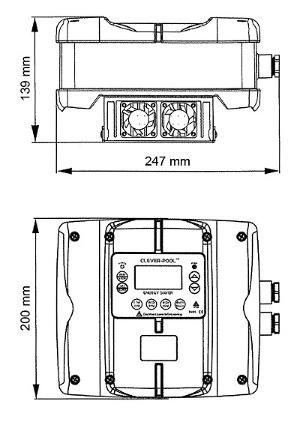 Abmessungen POOLSANA Poolpumpen-Inverter