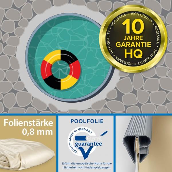 Einzelbecken Stahlwand-Rundpool PS HQ 3,50 x 1,35 m | Folie 0,8 mm sand
