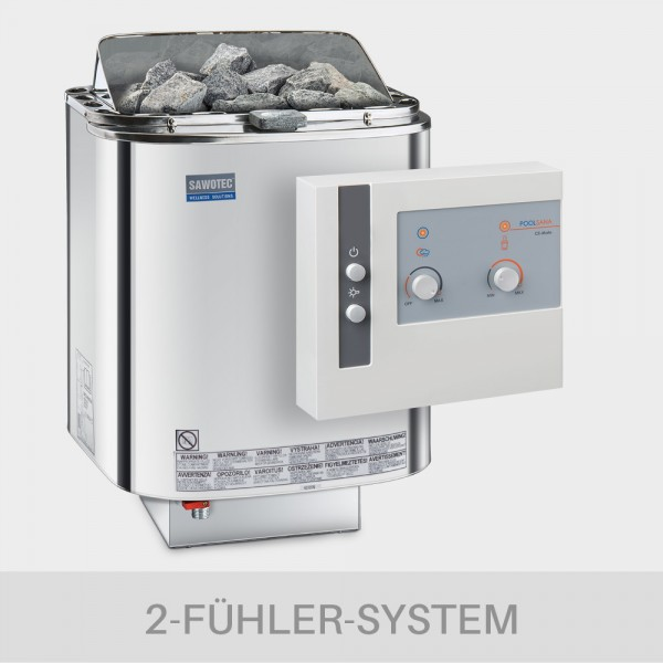 Kombiofen-Set Nordex Combi 9 kW 400 V + Kombi-Saunasteuerung POOLSANA Cli-Mate