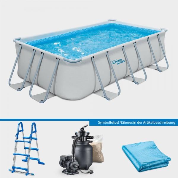 Frame Pool ELITE Rechteck 400 x 200 x 100 cm PROTECT PURE-Set