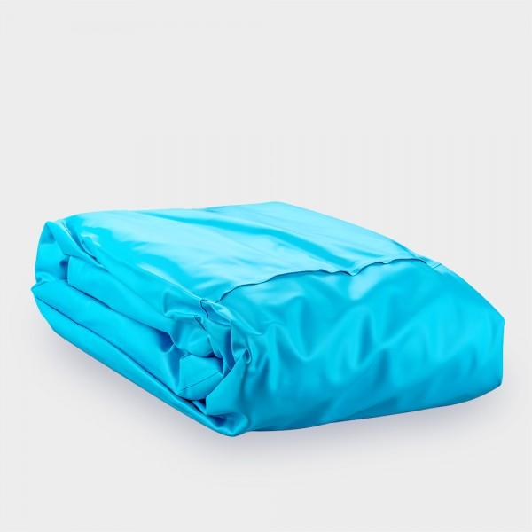 Poolfolie ca. 0,8 mm für Ovalpool 5,25 x 3,20 x 1,20 m; mit Einhängebiese | Farbe: Blau
