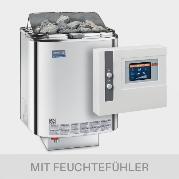 Bio-Kombiofen-Set Nordex Combi 9 kW + Steuerung POOLSANA Clima Lux Touch mit Feuchtefühler