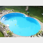 Stahlwand 8-Form-Pool mit PVC-Poolfolie Made in Germany
