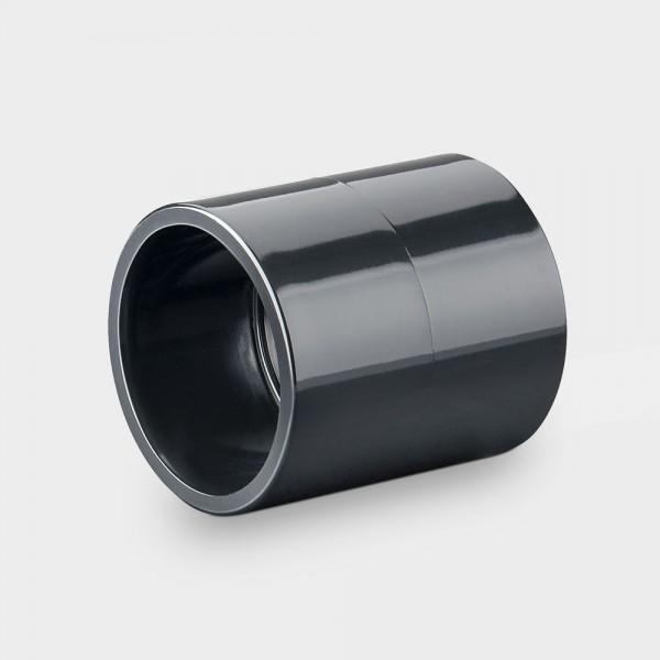 Verbindungsmuffe 50 mm schwarz