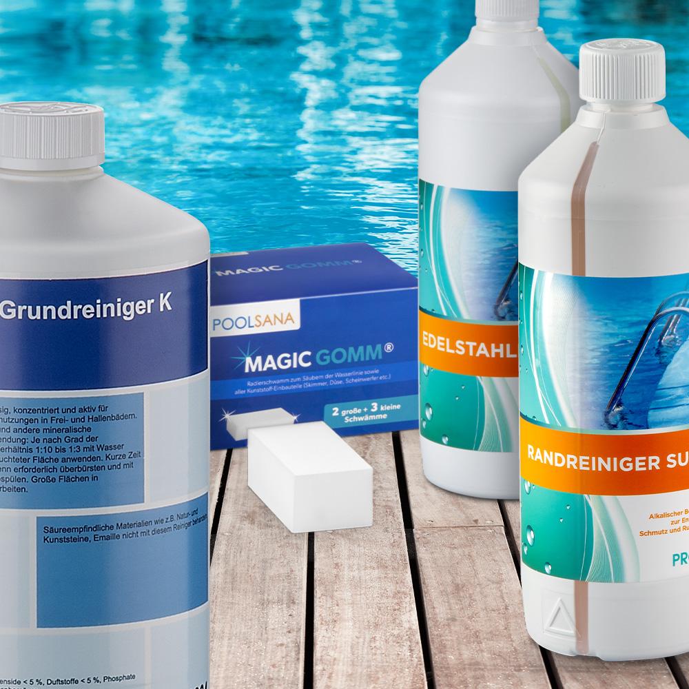 Reinigungsmittel fuer Schwimmbecken