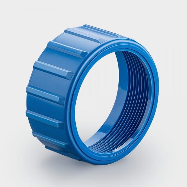 Überwurfmutter blau (lampenseitig)