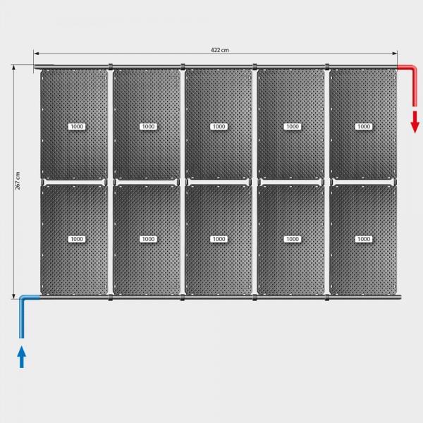 Pool-Solarheizung POOLSANA OKU Set 20   Schrägdachmontage