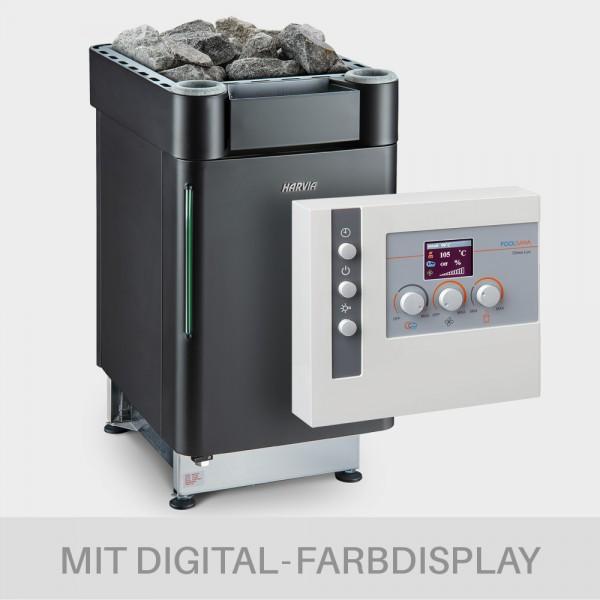 Kombiofen-Set Harvia Senator Combi 9kW 400V BLACK EDITION + Steuerung Clima LUX