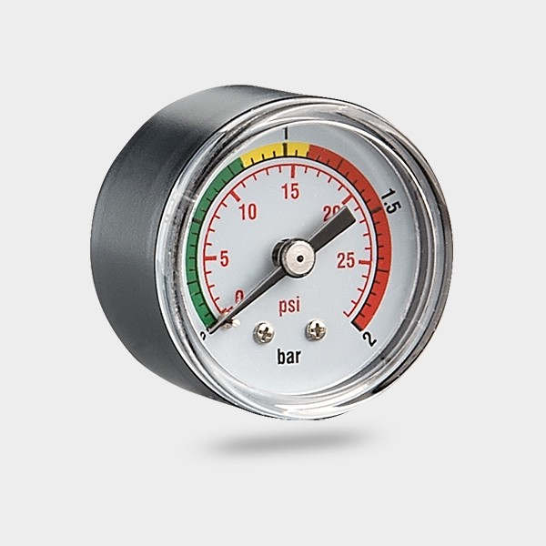 "Druckmanometer mit hinterem Anschluss 1/4"" AG"