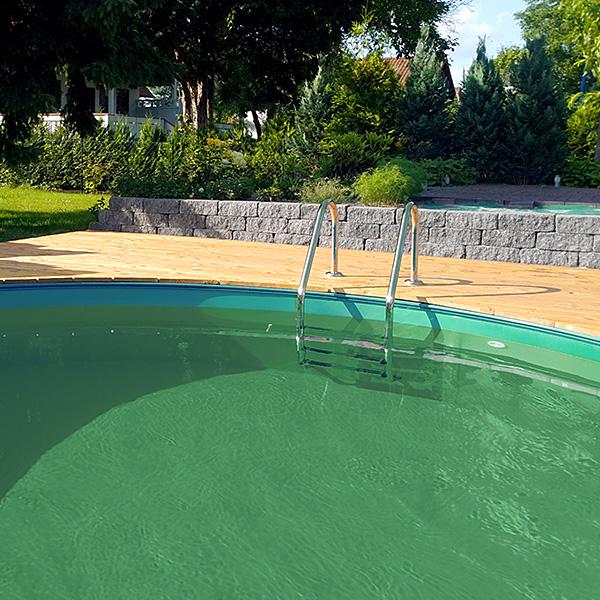 hilfe mein beckenwasser ist tr b und wird gr n was kann ich tun poolsana der pool sauna. Black Bedroom Furniture Sets. Home Design Ideas