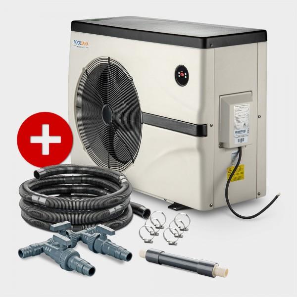 Pool Full-Inverter-Wärmepumpe POOLSANA InverPURE 7 + Anschluss-Set 38 mm