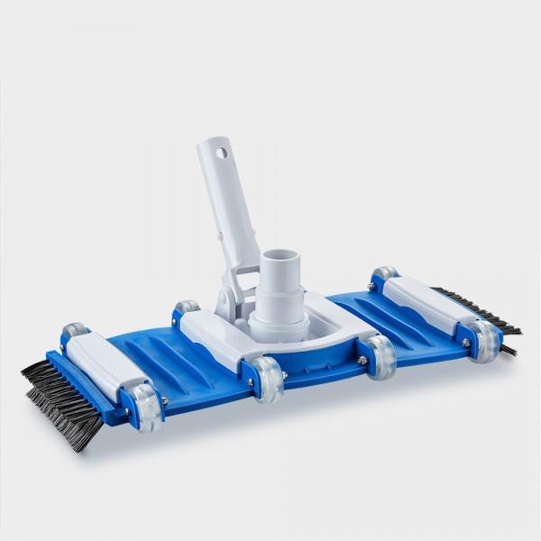 Poolreinigungsbürste Flex mit Rädern sowie