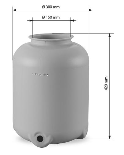Abmessungen Kessel 300 mm