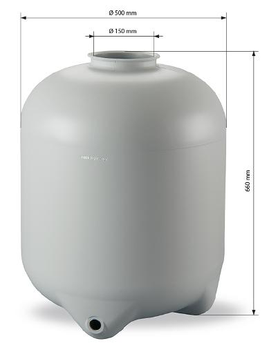 Abmessungen Kessel 500 mm