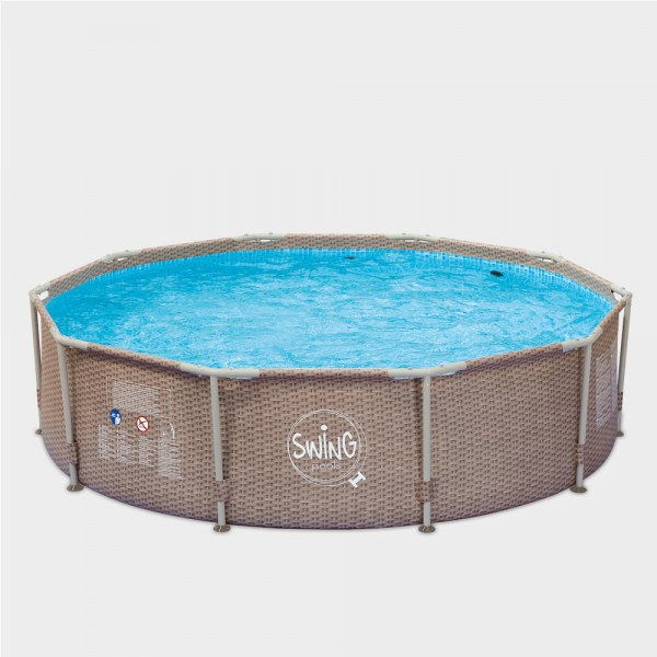 Frame Pool POLE Wicker Rund 305 x 76 cm
