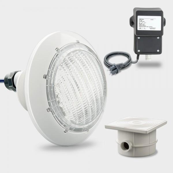 Set LED Poolscheinwerfer weiß COMPACT POWER 44 W