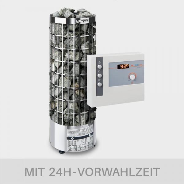 Saunaofen-Set Harvia Cilindro E (offen) 9 kW 400 V + Saunasteuerung POOLSANA L2 Comfort