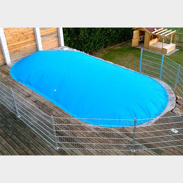 aufblasbare poolabdeckung poolsana air protect plus fa 1 4 r ovalbecken pool p