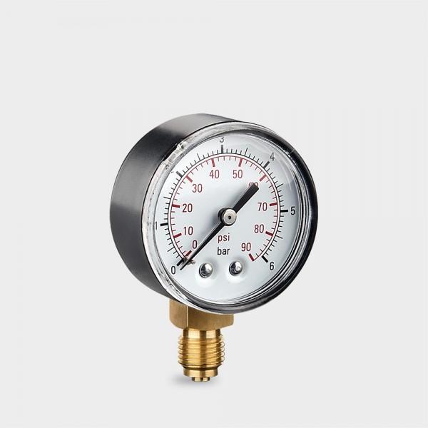 "Druckmanometer mit unterem Anschluss 1/4"" AG"