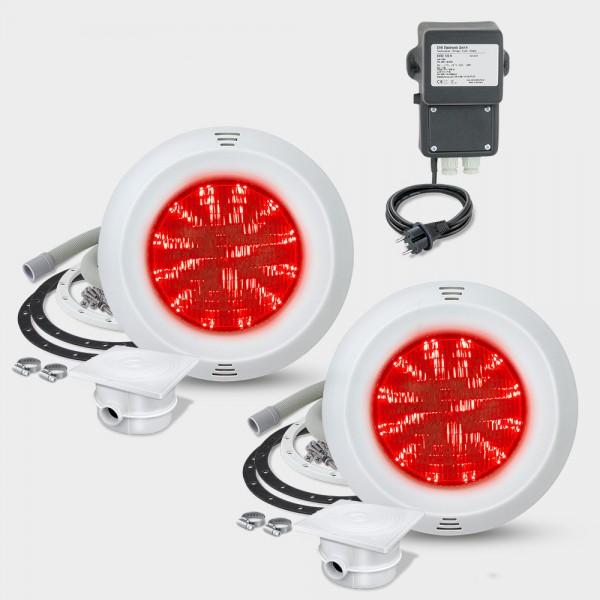 2er-Set LED-UWS POOLSANA PURE PAR56 30W RGB