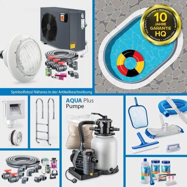 Ovalpool PS HQ 4,90 x 3,00 x 1,35 m mit Alu-Handlauf | Folie blau 0,8mm | PROMO-Set PRIME