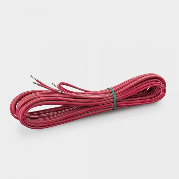 Silikonfühlerleitung 2 x 0,5 mm² rot 4,5 m