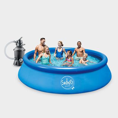 quick up pool set 305 x 76 cm rund mit filter pumpe schwimmbecken planschbecken ebay. Black Bedroom Furniture Sets. Home Design Ideas