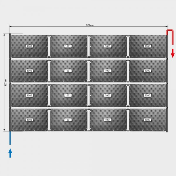 Pool-Solarheizung POOLSANA OKU Set 32 | Flachdachmontage