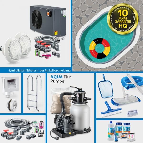 Ovalpool PS HQ 7,00 x 3,50 x 1,50 m mit Alu-Handlauf | Folie sand 0,8mm | PROMO-Set PRIME