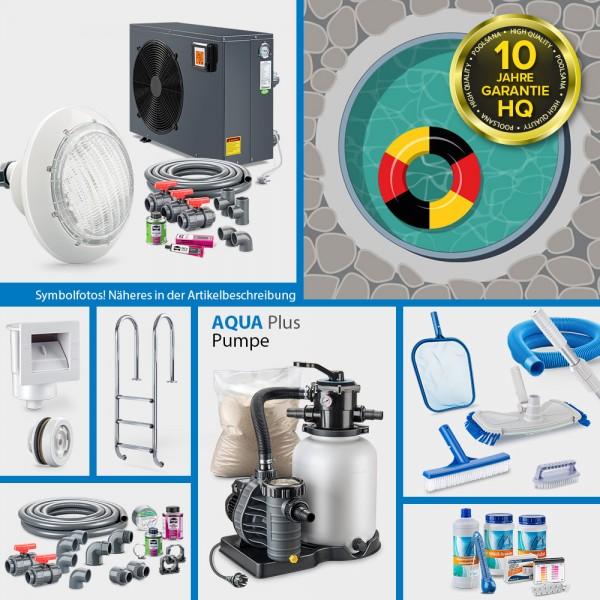 Rundpool PS HQ 3,50x1,35m | Alu-Handlauf | Folie sand | PROMO-Set PRIME | Teil-/Kompletteinbau