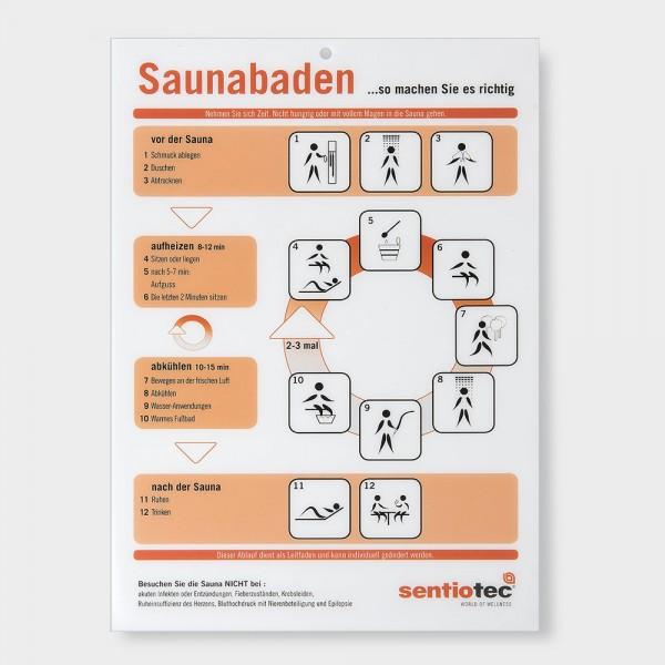 Sauna-Baderegeltafel Kunststoff