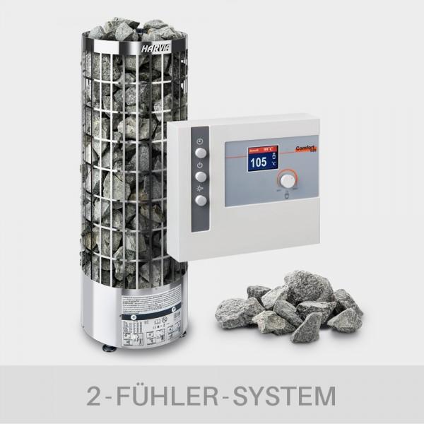 Saunaofen-Set Harvia Cilindro E (offen) 9 kW 400 V + Steuerung POOLSANA L2-D2S + 100 kg Saunasteine