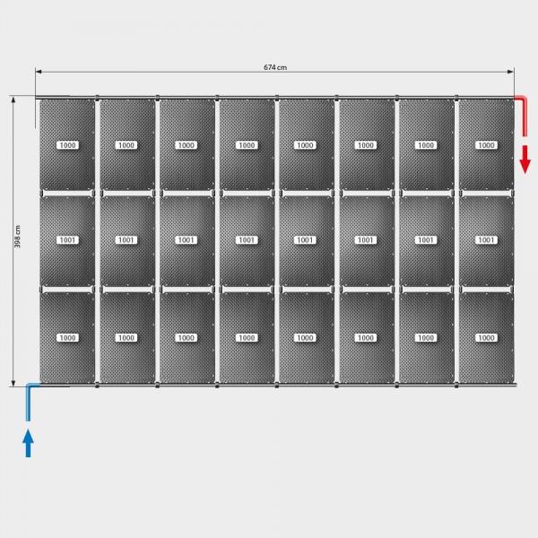 Pool-Solarheizung POOLSANA OKU Set 48a | Flachdachmontage