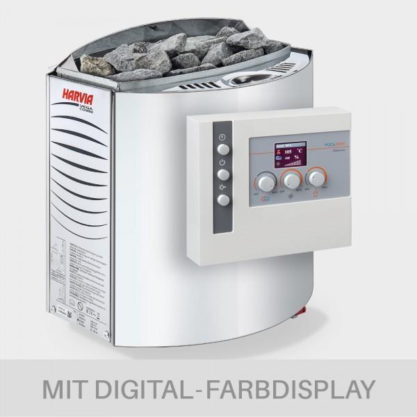 Kombiofen-Set Harvia Vega Combi 9 kW 400 V + Saunasteuerung POOLSANA Clima Lux