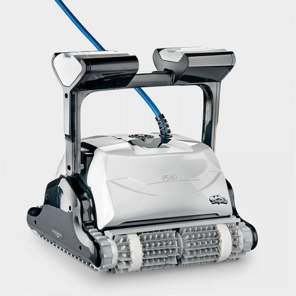 Poolroboter Dolphin PS60 mit Top-Access, 2 Antriebsmotoren, App-Steuerung sowie Caddy