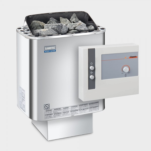 Saunaofen-Set Nordex Next 6 / 8 / 9 kW 400 V + Saunasteuerung POOLSANA L1 Classic