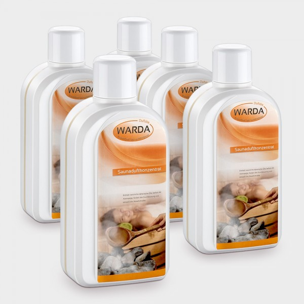 Saunaaufguss-Set Top-5; 5 x 1000 ml