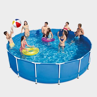 frame pool 366 x 91 cm rund schwimmbecken planschbecken stahlrohrbecken swimming ebay. Black Bedroom Furniture Sets. Home Design Ideas