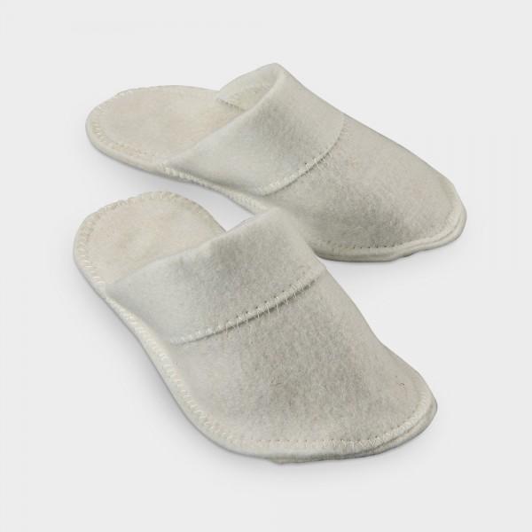 Sauna-Pantoffeln weiß